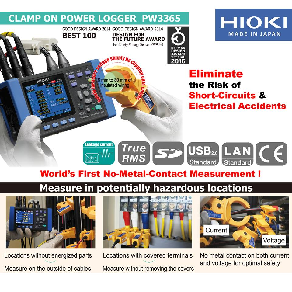 Hioki PW3365 CLAMP ON POWER LOGGER