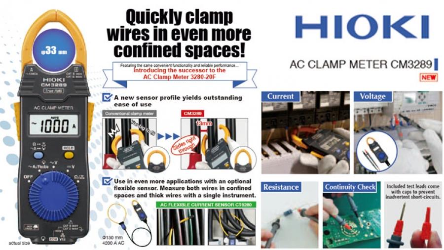 Hioki ra mắt đồng hồ đo AC CM3289