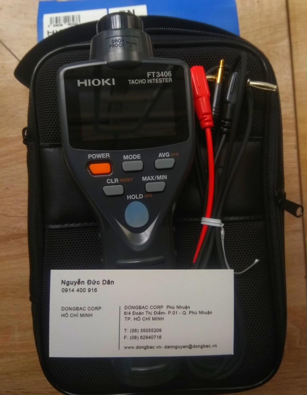 Thiết bị đo tốc độ vòng quay Hioki FT3406