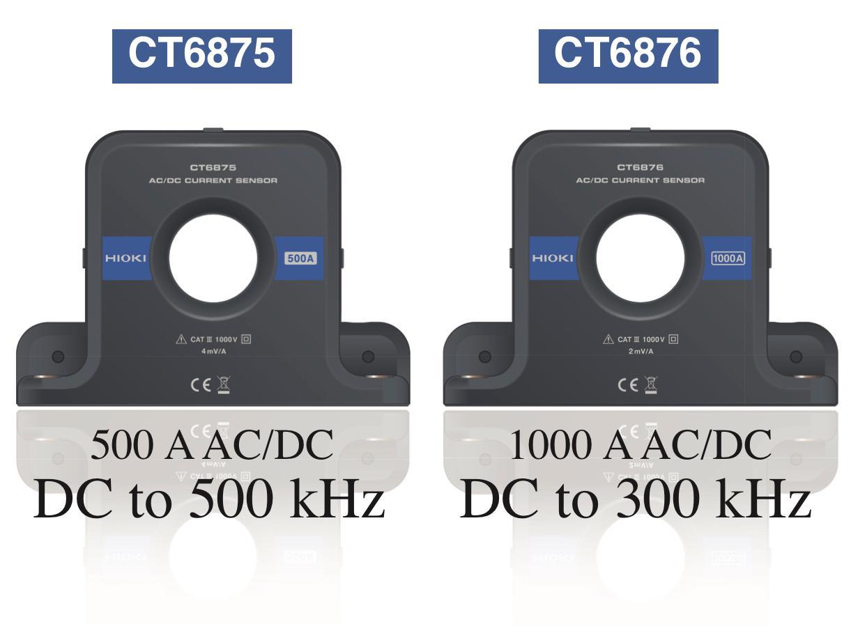 Hioki ra mắt cảm biến dòng điện AC / DC CT6875 (500 A) và CT6876 (1000 A)