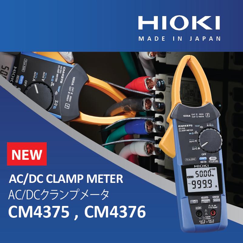 Hioki ra mắt đồng hồ đo AC / DC CM4375 và CM4376