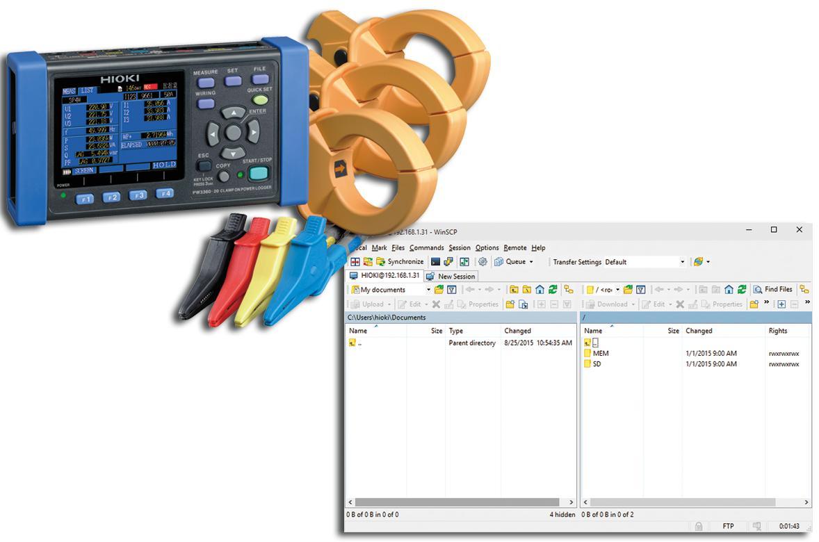 Kẹp trên Power Logger Dòng PW3360 hiện cung cấp Tải lên dữ liệu FTP